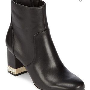 Karl Lagerfeld Sadie Pearl Heel Booties